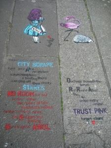 Alice in Wonderland street art