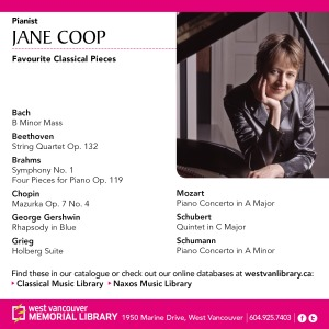 Jane Coop's favorite piano pieces