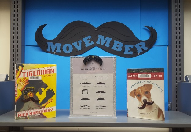 Movember Display at Port Moody Library