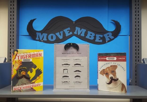 Movember Display at Port Moody Library
