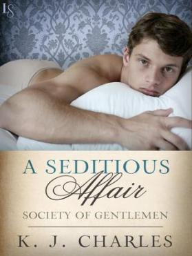 Cover of A Seditious Affair; a young man lies provocatively on a bed