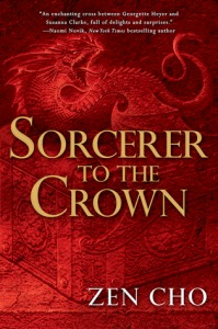 cover of Sorcerer to the Crown - image of a red dragon with its mouth open