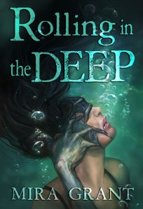 cover of Rolling in the Deep - a young woman is pulled underwater by a webbed hand