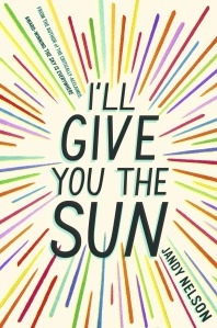 cover of I'll Give You the Sun - colourful lines in a sunburst pattern