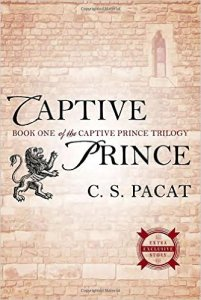 cover of Captive Prince - image of a faded stone wall with a single thin window