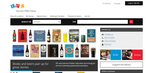 vpl books and beers booklist